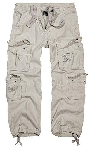 Brandit Pure Vintage Herren Cargo Hose B-1003 Old White