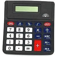 GJJ Calculadora de 8 bits de Botón de Cristal Fácil de Operar Computadora de Oficina Financiera - Artefacto de Aritmética,Negro