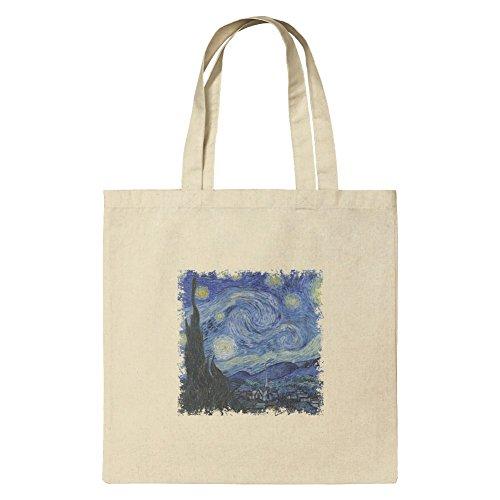 Sternennacht von Vincent van Gogh Lebensmittels Reise wiederverwendbar Tasche–Kleine