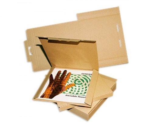 LP Schallplatten Versandkartons für 1-3 LPs Protected (50 Stück)