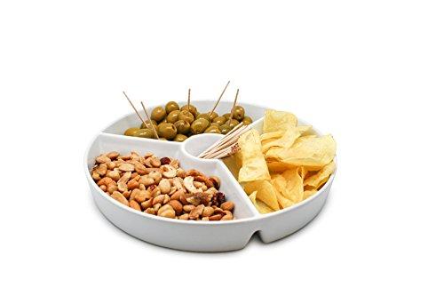 NERTHUS FIH 333 - Plato snacks Porcelana servir, plato