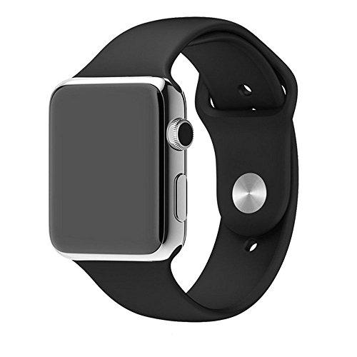 Preisvergleich Produktbild kokome Weiche Silikon Sport Stil Ersatz Apple Watch Band Wrist Band (38,  schwarz)