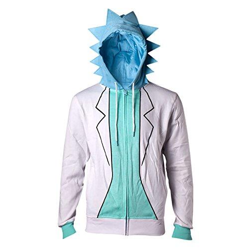Rick and Morty Sweatshirt Rick Novelty Hoodie White-M