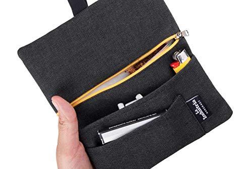 Tabaquera repelente al agua - Pitillera tabaco de liar con bolsillos para filtros, papel y mechero