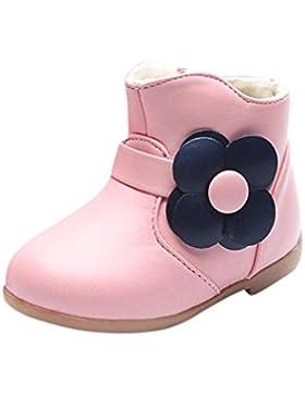 Botas para niños Bebé Chicas Martín Zapatos Sneaker para bebés Niños Calentar Floral Casual Zapatos LMMVP