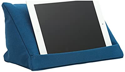 coz-e-reader Plain Cushion Stand for Tablet - Blue produced by coz-e-reader - quick delivery from UK.