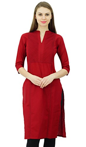 374fcbe204 Phagun Para Mujer de algodón de la túnica Kurta étnico Casual Formal Indian  Ladies Kurti
