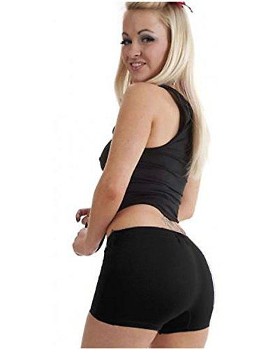 Hot Pants, Schwarz, Stretch, Sexy, für Disco Party Verkleidung Größe 36-42 Gr. M/L, schwarz (Fashion Sexy Hot)