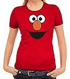 Karneval Fasching Verkleidung Damen T-Shirt Gruppen & Paar Kostüm Red Monster, Größe: L,Rot