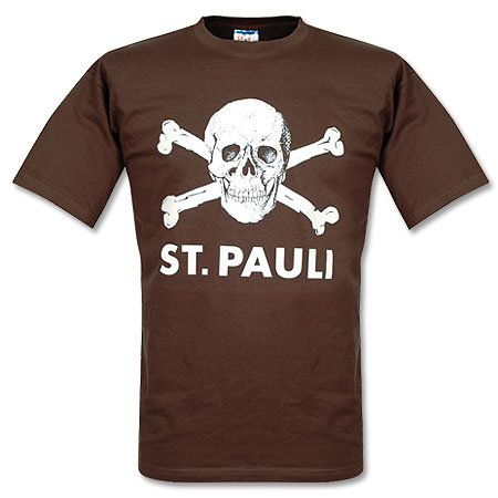 FC St. Pauli Totenkopf Braun T-Shirt Braun M (Schädel-brown-t-shirt)