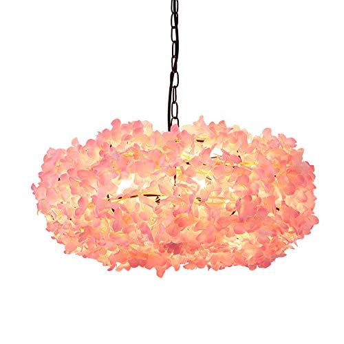 ZYANG Moderne Pendelleuchten Kronleuchter Peach Blossom Pflanze Warm White E27 Deckenleuchten Für Schlafzimmer Wohnzimmer Bar Cafe Restaurant Küche Peach Leuchter