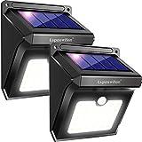 Luposwiten Solarleuchten für Aussen,28 LED Solarlampen mit Bewegungsmelder Solarlicht Lichter für Außen Garten, Wand, Hof, Treppen, Einfahrt, Gehwegen,Solarlampen Aussenbeleuchtung-[2 Stück]