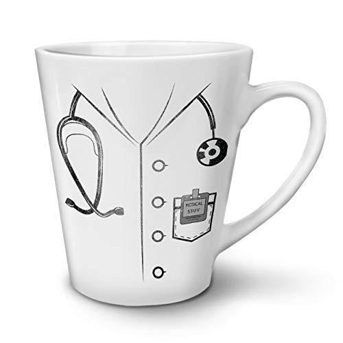 Wellcoda Arzt Passen Kostüm Latte BecherKrankenschwester Job Kaffeetasse - Komfortabler Griff, Zweiseitiger Druck, robuste Keramik