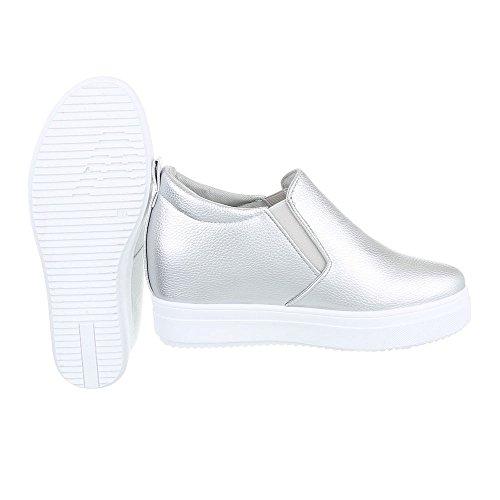Ital-Design - Pantofole Donna Silber 6689-Y