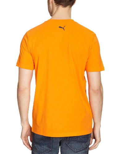 PUMA Herren T-Shirt Large Logo Graphic, Organic Cotton vibrant orange