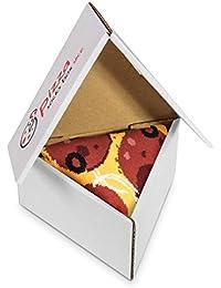 Pizza Socks Box 1 par Pepperoni Unos calcetines únicos, extraordinariamente originales, fabricados en la UE, ideales como regalo! Talla: 36 - 40 41 - 46 Sorprende a tus amigos Algodón