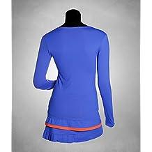 VIBOR-A Look 2 Conjunto de tenis, Mujer, Multicolor (Azul Marino/Turquesa), L