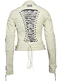 PHILIPP PLEIN Damen Designer Leder Jacke - MOULIN ROUGE -