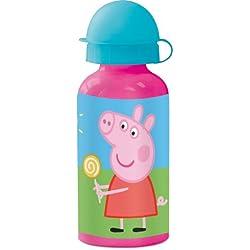 Stor 48634 - Botella de aluminio, 400 ml, diseño Peppa Pig