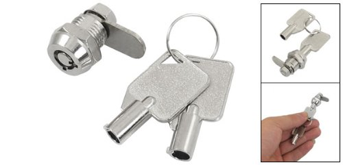 sourcingmap® 12 mm Gewinde Schrank im Haushalt Schlüssel Hebelschloss mit Vierteldrehung für 2 Schubladen