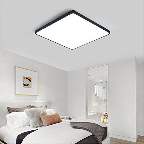 DengWu Lámpara de techo Ultra-delgada plancha LED lámpara de techo en dormitorio matrimonio habitación estudio de control remoto de iluminación decorativa lámpara de oficina salón rectangular, de 40 * 40 cm.