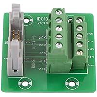 IDC10P Conector de bloque de terminal macho de 10 pines, interfaz PLC con soporte.