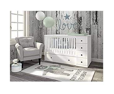 naka24 Bellamy Babyzimmer Kinderbett Babybett Gitterbett weiß Möbel Paso Doble