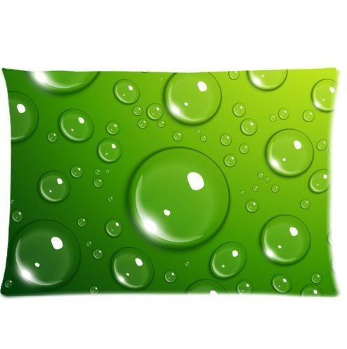 Mina-Shop water droplets textures bubbles Two-Side Polyester Pillowcase 20x30 Inch