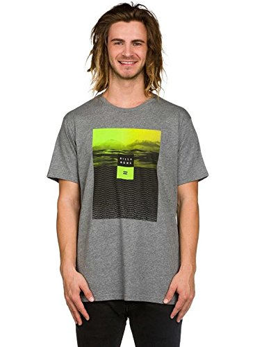 Billabong Herren Witness Short Sleeve Tee T-Shirt, Grey Heather, M (Sleeve Surf Tee Short)