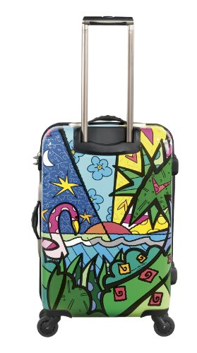 ... 50% SALE ... PREMIUM DESIGNER Hartschalen Koffer - Heys Künstler Britto Palm - Trolley mit 4 Rollen Medium Palm