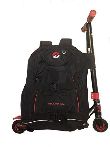 Dual–Scooter/Board mit Rucksack Tasche rose