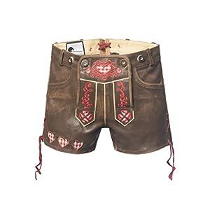 Tannhäuser Tann Casas 0108-8038-44EVA Corto Pantalones de Piel, marrón/Rojo, 44