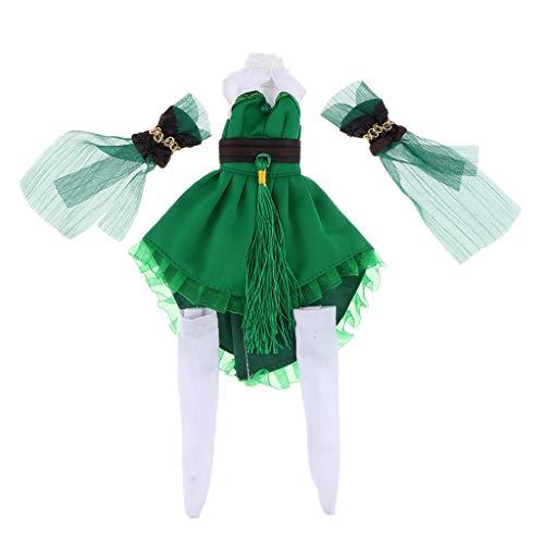 B Blesiya Modische Puppe Kleid Abendkleid Ballkleid für 12 Zoll Mädchen Puppe Dress up Zubehör - ()