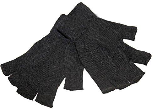 Mitaine gants uni extensible sept coloris au choix hommes ,femmes ,enfants (Noir)