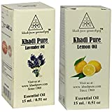 Khadi Pure Lavender and Lemon Essential Oil Combo (30ml) Pack 2