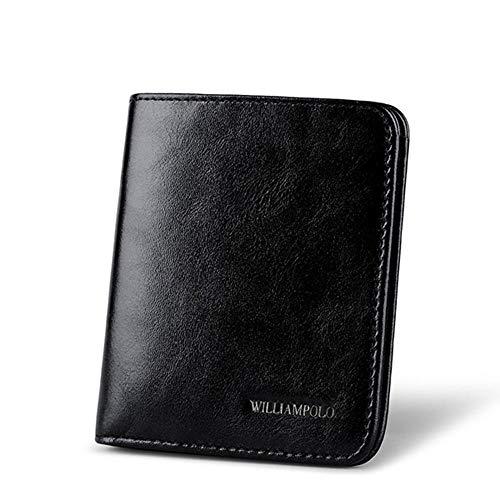6cf1c4e111f58 LMSHM Billetera Classic Mini Wallet Men Purse Leather 2 Fold Slim Wallet  Titular De La Tarjeta