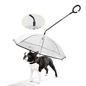 Namsan Hunderegenschirm schützt Ihr Haustier vor Regen und Schnee, hält Ihr Haustier trocken, Sie können mit Ihrem Haustier jederzeit spazieren gehen, müssen sich nicht um das Wetter sorgen! Wie benutzt man: 1.Installieren Sie den Stopper 2.Ziehen Si...