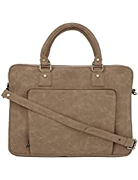 Gauge Machine Women Brown Vegan Leather Laptop Bag