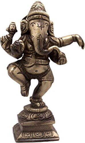 Two Moustaches Brass Dancing Ganesha Idol | Home Decor |