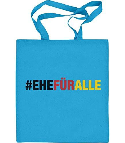 #EHEFÜRALLE - Ehe für alle, und zwar jetzt Jutebeutel Baumwolltasche Hellblau