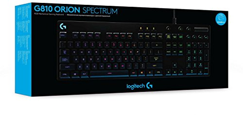 Logitech G810 Orion Spectrum RGB mechanische Gaming Tastatur (QWERTZ, deutsches Tastaturlayout) schwarz - 6