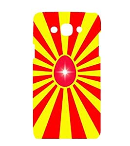 printtech Egg Aura Abstract Pattern Back Case Cover for Samsung Galaxy J3 (2016)