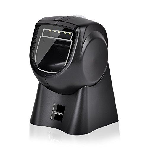 Elekele Orbit Barcode Scanner, 1D&2D Scanner Barcode Plattform automatisch Scannen 300t / s mit Einstellbarem Kopf