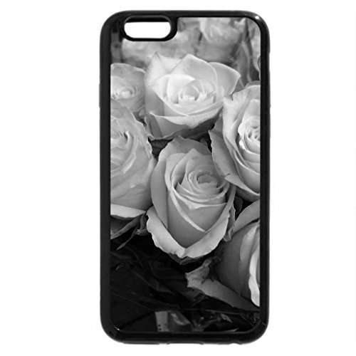 iPhone 6S Plus Case, iPhone 6 Plus Case (Black & White) - White roses for sale