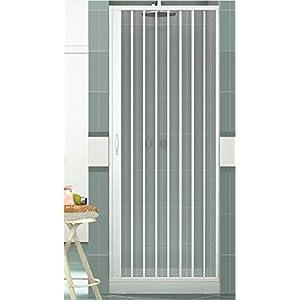 Rollplast BVEN2LONCC28090 Mampara de ducha con fuelle, tamaño H 90 cm x 185 cm, PVC, por un lado, única puerta, con…