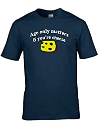 AGE ONLY MATTERS WHEN YOU'RE CHEESE Men's Dairy related Funny T-Shirt from Ice-Tees