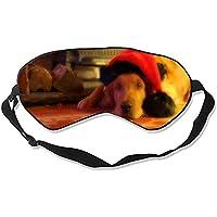 Schlafmaske, Tierhund, natürliche Seide, mit verstellbarem Riemen preisvergleich bei billige-tabletten.eu