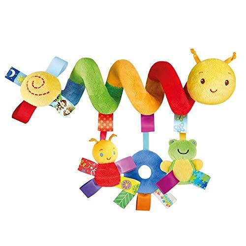 QHWJ Rassel Spielzeug Für Kinderwagen Kinderbett Nette Raupe Design Baby Spirale Aktivität Hängen Spielzeug Kinderwagen Plüsch Auto Hängen Spielzeug Für Babys Jungen Mädchen -