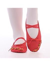 Bambini scarpe da ballo estate fondo morbido femmina scarpe cat claw dance ballet pointe scarpe scarpe scarpe alla pratica yoga,trentasei,gules