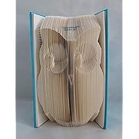 """gefaltetes Buch""""Eule"""" als Geschenk, z.B. für Geburtstag, oder als Dekoration"""